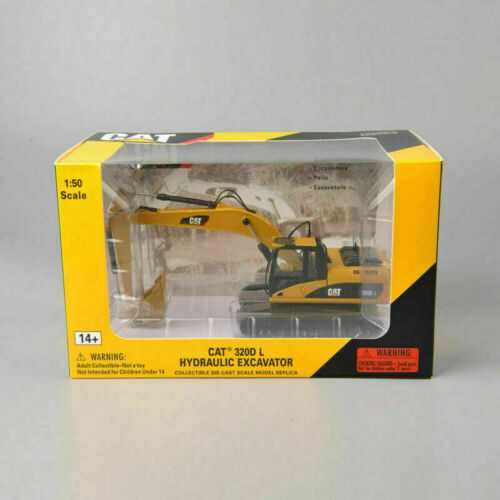 CAR CAT 320D L 1//50 Scale Diecast Toy Vehicles Hydraulic Excavator Car Model Toy