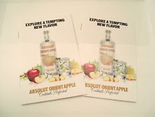 Two LIMITED EDITION Absolut Orient Apple Vodka recipe booklets. NICE!!