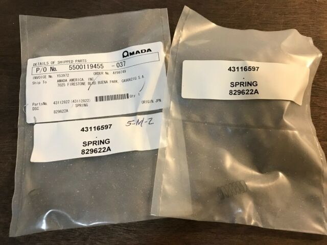 3x Amada Quick & Sure Small Spring, 829622A, 43116597, new old stock