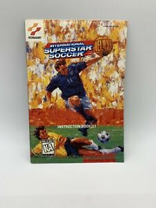 Authentic-International-Superstar-Soccer-Deluxe-Super-Nintendo-SNES-Manual-Only