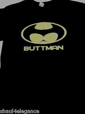 Buttman Junk In The Trunk Butt Batman Parody Shirt 100% Cotton Black Silk Screen