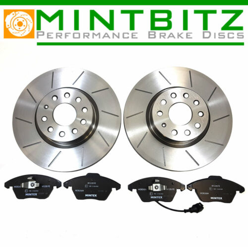 BMW 3 Series E91 335d 335i 06-13 Grooved Front Brake Discs /& Pads