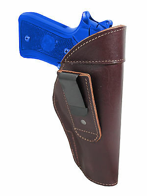 New Barsony Olive Drab Leather Tuckable IWB Holster 380 Ultra Comp 9mm Pistols
