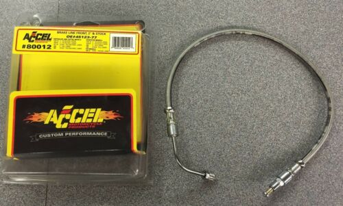 Accel Front Stainless Brake Line Accel p//n 80012 77-83 FX XLH OEM 45123-77