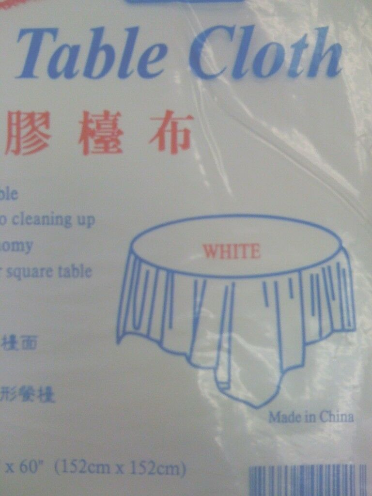 240 disposable tablecloth Weiß 60  x 60  table cover TC-60