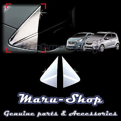 Chrome A-Pillar Post/Quarter Panel Cover Trim for 09~ Chevrolet Spark/Beat