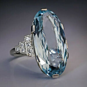 Elegant-925-Silver-Wedding-Rings-Women-Oval-Cut-Aquamarine-Rings-Size-6-10