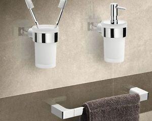 set accessori bagno da muro acciaio inox cromato pirenei