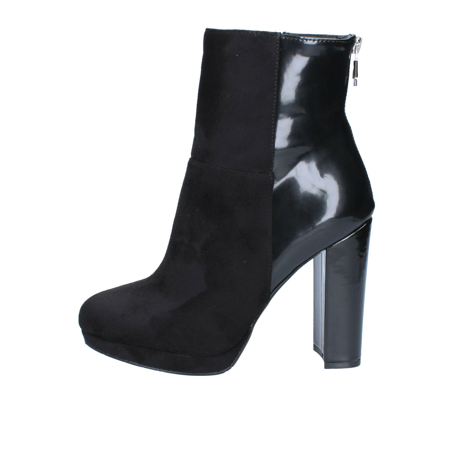 Wouomo scarpe GAUDI' 9 (EU 39) ankle stivali nero suede shiny leather BX64-39