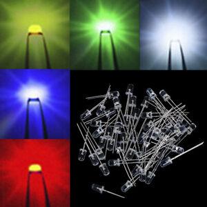 UK seller 5mm Red//Green//Blue//Yellow//White LED Diodes Light
