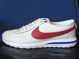 d6dd46d442419 NIKE ROSHE CORTEZ NM SP FORREST GUMP WHITE Red Blue USA Olympic July ...