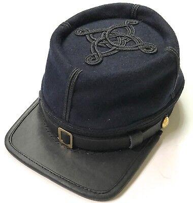 CIVIL WAR US UNION INFANTRY CAPTAIN OFFICER WOOL KEPI FORAGE CAP HAT-MEDIUM