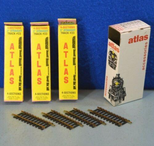 "Atlas HO Gauge 3/"" Straight Brass Track LNIB Box of Twelve"