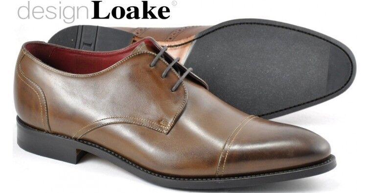 Loake Abberline Derby Style braun mens schuhe handcrafted calf leather  12    | Elegant und feierlich