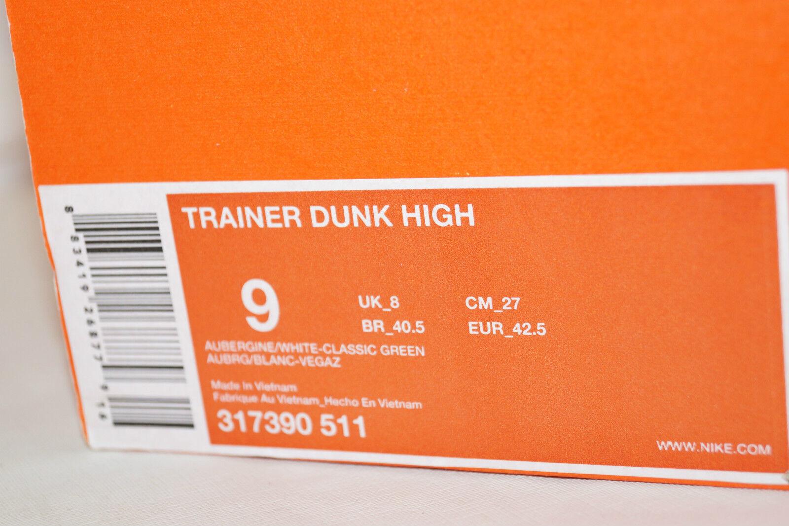 NIKE UK.8 Free Trainer DUNK high 2007 Gr.42,5 UK.8 NIKE aubergine 317390 511 hybrid 6c5a8c