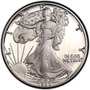 1 Once Oz Argent Silver Bu Usa Liberty Walking American Eagle 1988 Etats-unis P2 Complet Dans Les SpéCifications