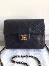 Chanel black mini cross body bag vintage