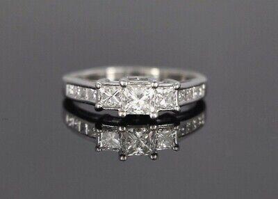 3 799 Kay Jewelers 14k White Gold 1 50 Princess Cut Diamond Engagement Ring 8 5 Ebay