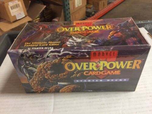 Overpower Marvel TCG CCG 12-deck Theme Deck Retail Box For Card Game 5 Styles.