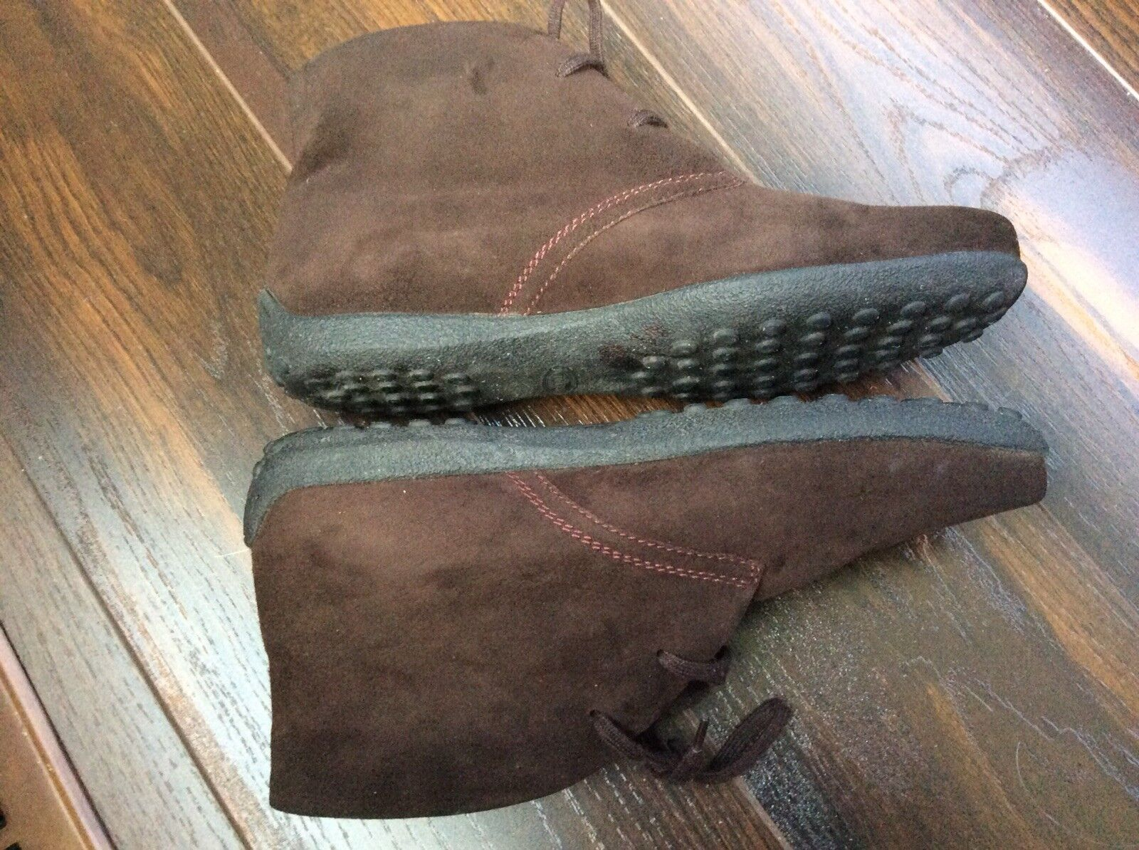 Tods Damenschuhe Braun Braun Braun Suede Leder Driving Ankle Stiefel SIZE 6.5 Made In  07de90