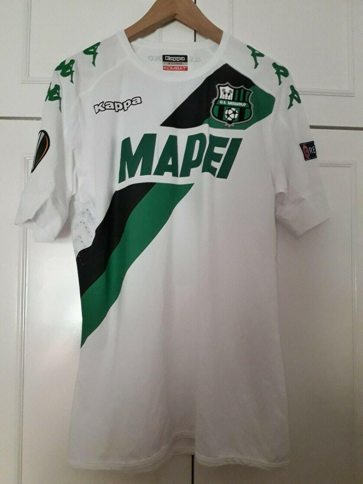 Maglia shirt US Sassuolo Europa League match worn 2018 taglia XL Consigli