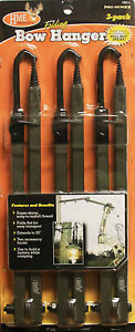 """HME Products Folding Bow Hanger 3 Pack 20"""" FBH-3 #00917 Screw In Elite Gun"""
