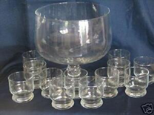 PRINCESS HOUSE HERITAGE PUNCH BOWL w 12 PUNCH CUPS / HOSTESS #049 ...