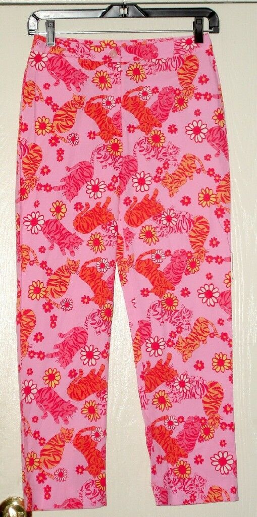 LILLY PULITZER LILLY CAPRI TANGO TIGERS SZ 0 or GRL  14
