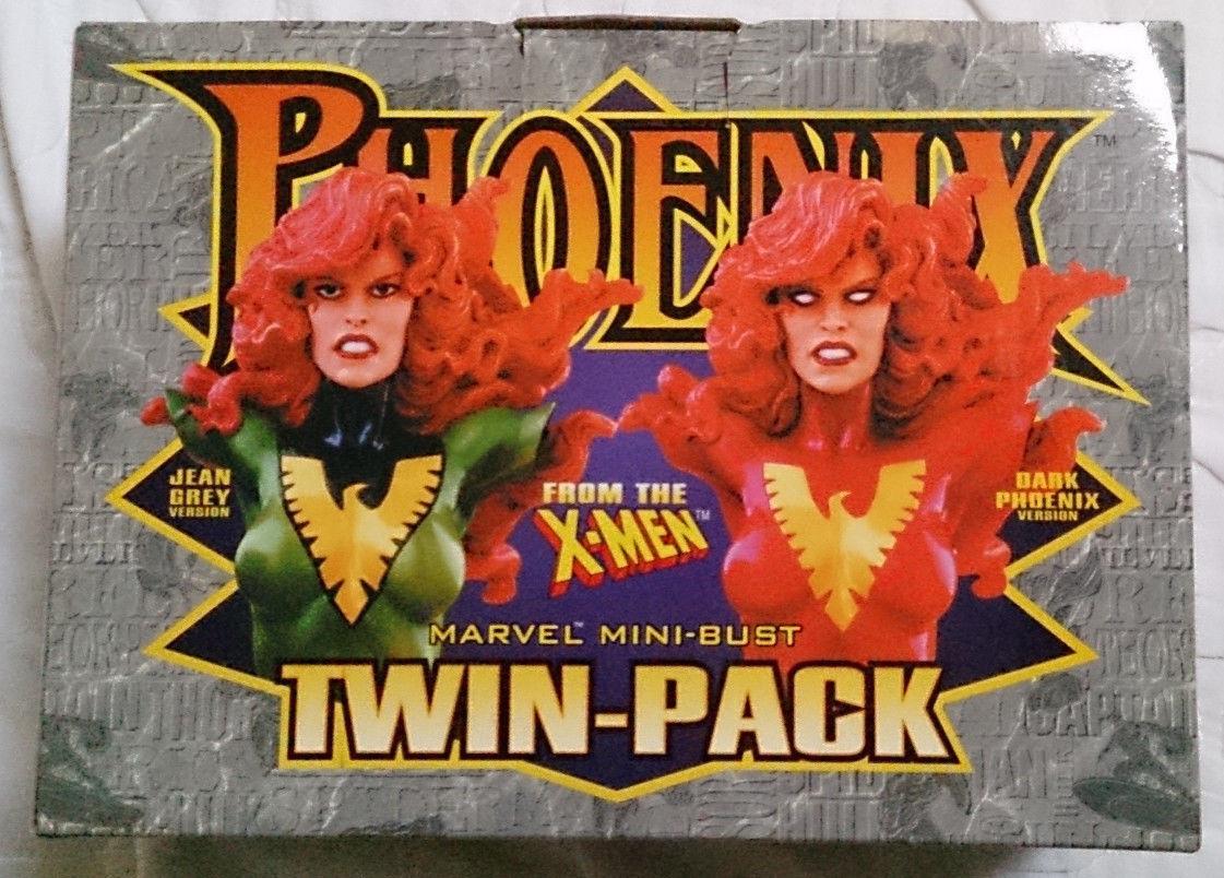 Marvel Comics Bowen X-Men Jean Grey Dark Phoenix mini bust statues with box