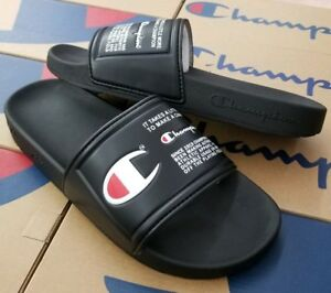 1587a9dc0326c Image is loading CHAMPION-MENS-SLIDE-SANDAL-IPO-JOCK-TRIPLE-BLACK-