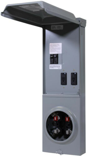 Meter Socket Temporary Power Panel Load Center GPI U-Ground Protect Receptacle