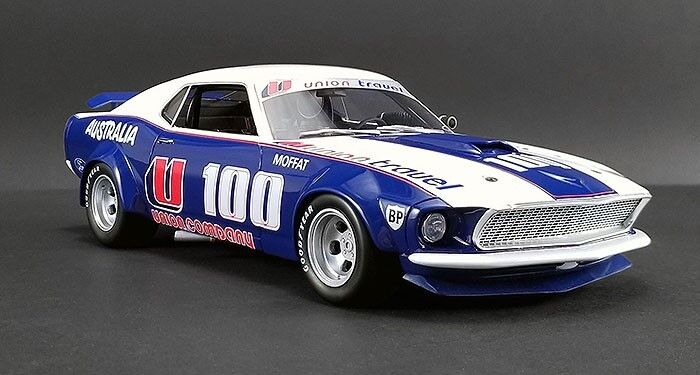 1 18 REAL ART REPLICAS 1969 FORD BOSS 302 Trans Am Mustang Allan Moffat RAR18003