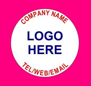 Personalised Business Name Stickers Thank You Seals Your Logo Labels Address