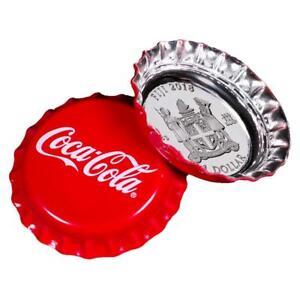 Fidschi Fiji 1 Dollar 2018 Coca Cola Münze In Kronkorken Form 6