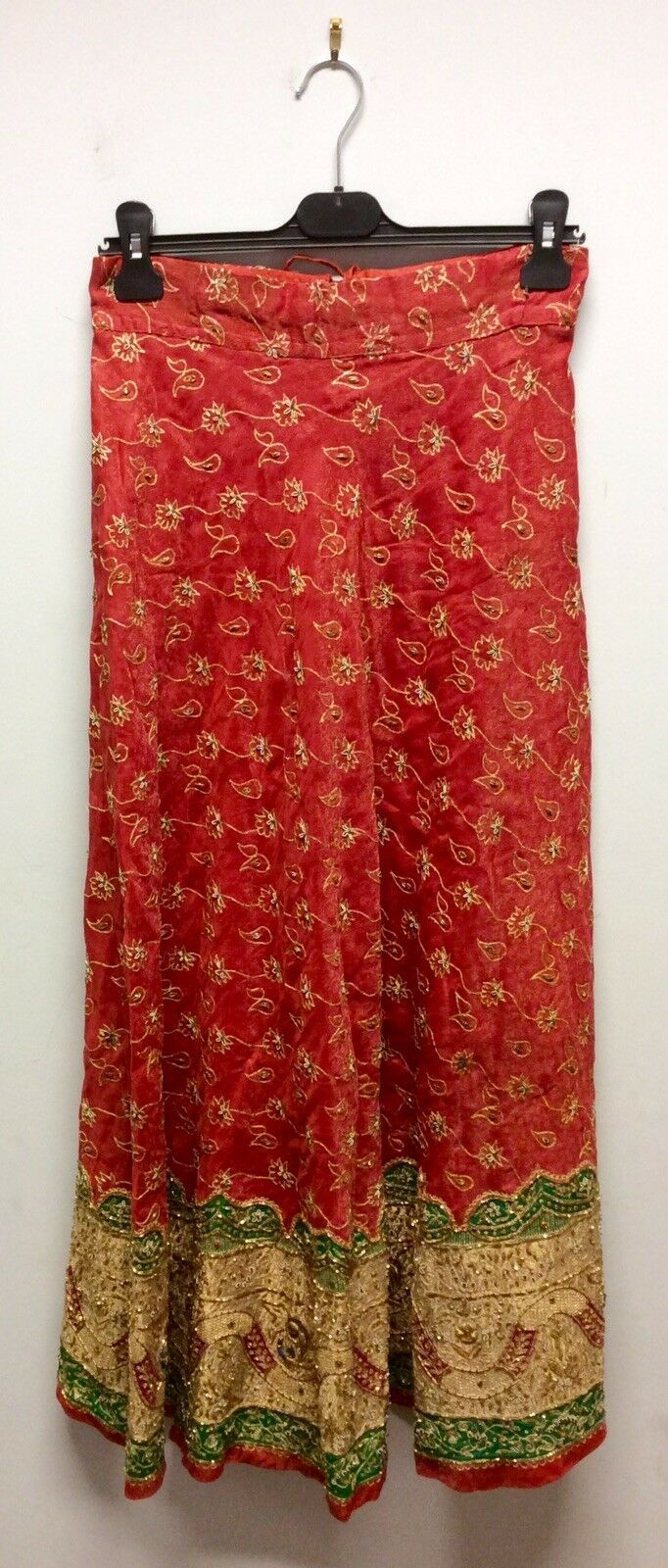 Indian Maxi Skirt With gold Embroidery
