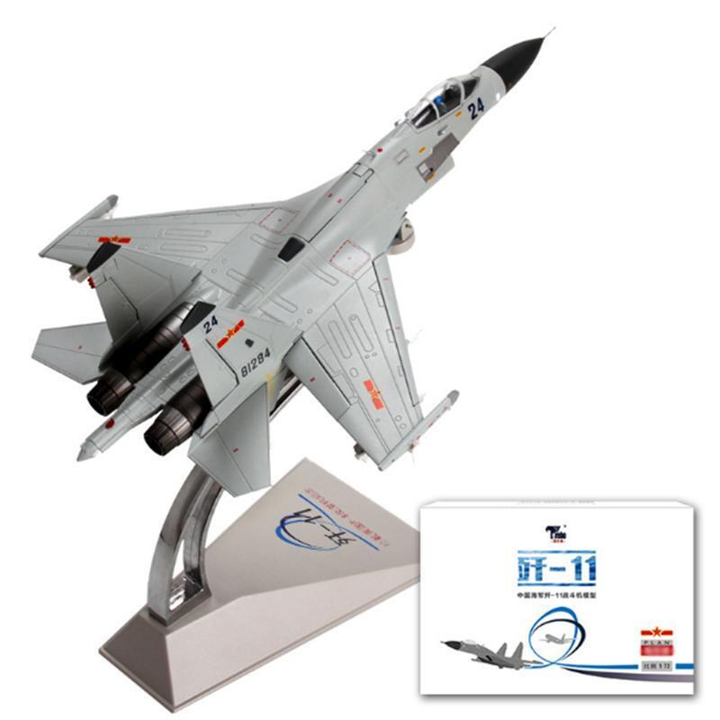 J-11 para Navy versión 1 72 Kit de avión estática de regalo de metal Warcraft Jet Fighter