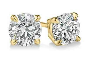 2-ct-White-Sapphire-Round-Stud-Earrings-in-14k-Yellow-Gold-Sterling-Silver