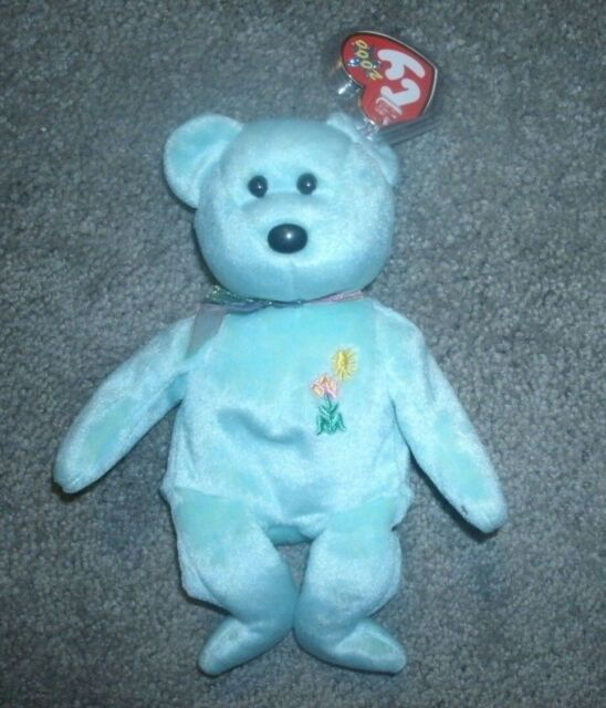 2 Tush Tags Eggs Ty Beanie Baby Pink Bear Easter Egg on Chest Born April 23  2000 be09abf22616