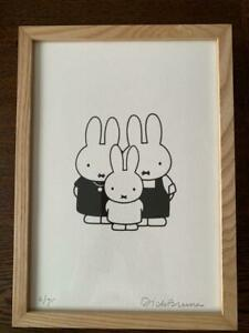 Dick-Bruna-Silkscreen-Art-Print-Miffy-Exhibition-50th-Anniversary-Rare