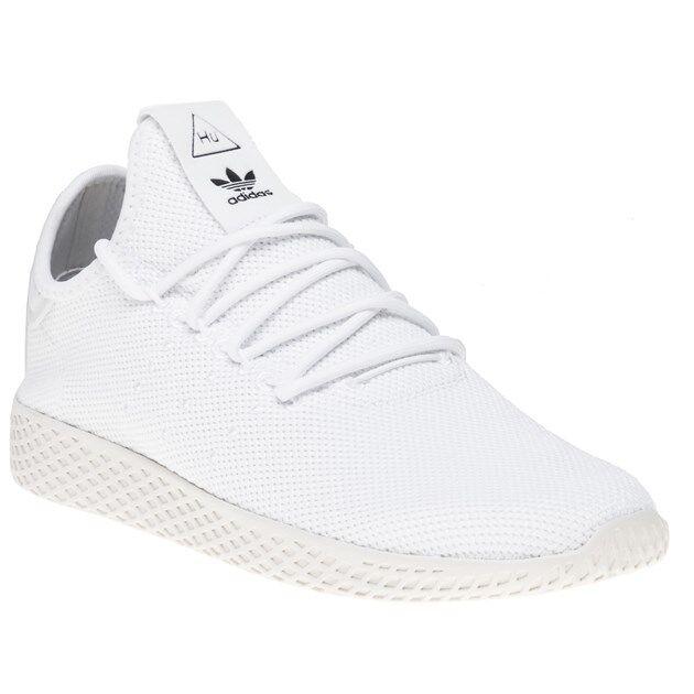 New MENS ADIDAS WHITE PHARRELL WILLIAMS TENNIS HU NYLON Sneakers Retro