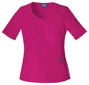 9bd462a5b8b Cherokee Workwear Scrubs Women's V Neck Scrub Top 4746 Raspberry ...