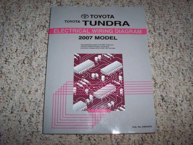 2007 Toyota Tundra Truck Electrical Wiring Diagram Manual