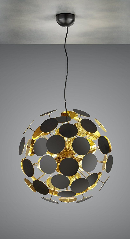 Pendelleuchte   LED möglich   TOP Design   Gold   schwarz   6 x E14 LED möglich