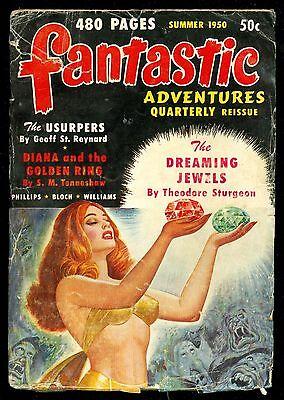 FANTASTIC ADVENTURES QUARTERLY REISSUE, Summer 1950 - giant SF pulp