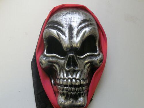 Pirate Skull Mask Halloween Costume Face Masks Skeleton Horror Silver Red New