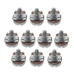 10PCS-Full-Size-Tone-A250K-Guitar-Pots-Short-Split-Shaft-Guitar-Potentiometer