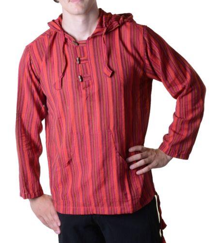 Debardeur Fischerhemd Kurtha manteaux Poncho moyen âge Avec Bout Capuche