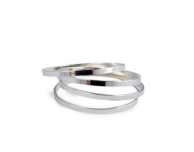 5pcs Midi Finger Ring Set Silver & Gold Stack Above Knuckle Band cute rings gift