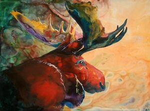 RED-MOOSE-8X10-Print-from-Artist-Sherry-Shipley