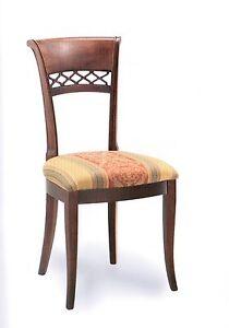 Sedia classica imbottita salotto soggiorno classica vari for Sedie x salotto